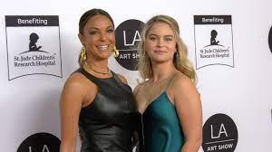 Eva LaRue with her daughter