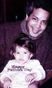 Vanessa Nadal with her father
