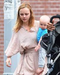 Christina Ricci with her son