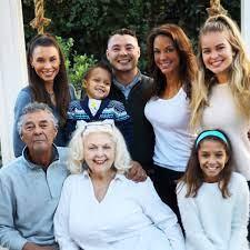 Eva LaRue with her family