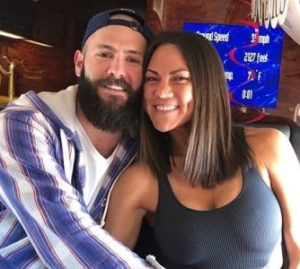 Jake Arrieta with his wife