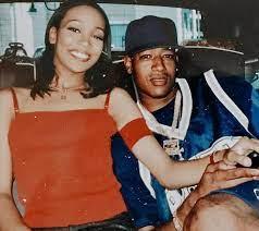 Trina rapper with her ex-boyfriend C-Murder