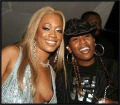 Trina rapper with her ex-boyfriend Missy