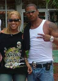Trina rapper with her ex-boyfriend Rasi