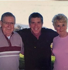 Tom Bergeron with his parents