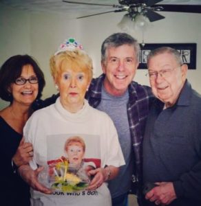 Tom Bergeron with his family