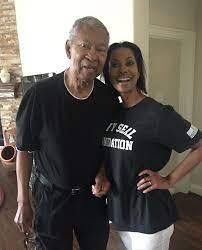 Harris Faulkner with her father