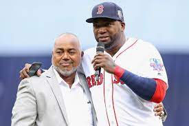 David Ortiz with his father