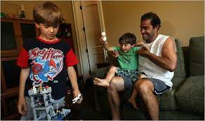 Pete Sampras with his sons
