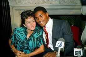 Herschel Walker with his ex-wife