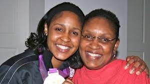 Maya Moore with her mother