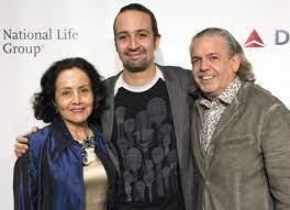 Lin-Manuel Miranda with his parents