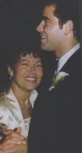 Pete Sampras with his mother