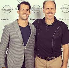 Eric Decker with his father