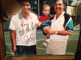 Pete Sampras with his father