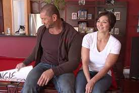 Dave Bautista with his ex-wife Angie