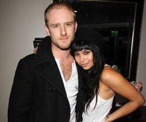 Zoe Kravitz with her ex-boyfriend Ben
