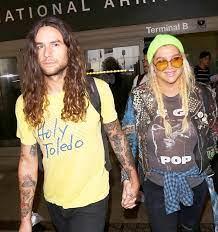 Kesha with her ex-boyfriend Brad