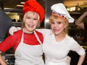 Charo with her sister