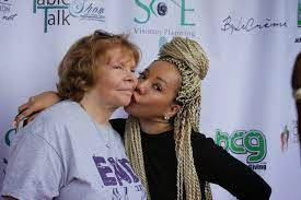 Tameka Cottle with her mother