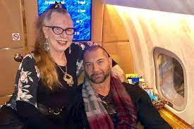 Dave Bautista with his mother