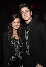 Lucy Hale with her ex-boyfriend David