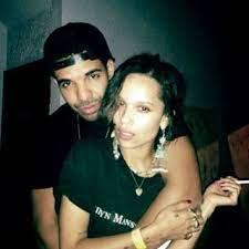 Zoe Kravitz with her ex-boyfriend Drake