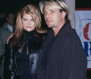 Kirstie Alley with her ex-boyfriend James