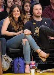 Lucy Hale with her ex-boyfriend Joel