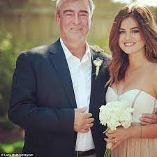 Lucy Hale with her father