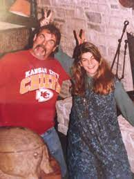 Kirstie Alley with her brother