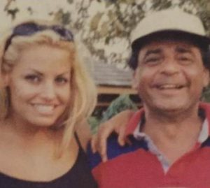 Trish Stratus with her father