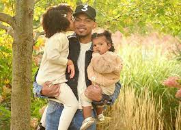Chance The Rapper with his daughters