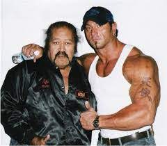 Dave Bautista with his father