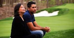 Jason Day with his mother