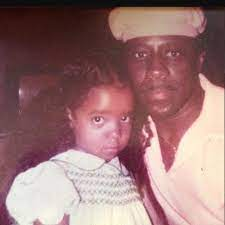 Tameka Cottle with her father