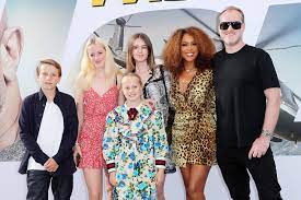 Eve with her husband & step-children