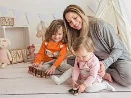 Trish Stratus with her kids