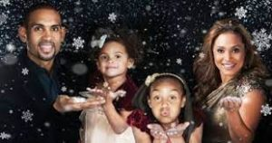 Grant Hill with his wife & daughters