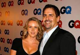 Mark Cuban with his wife