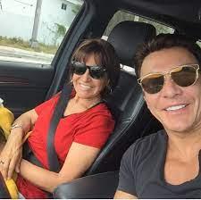 Beto Perez with his mother