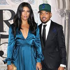 Chance The Rapper with his wife
