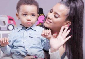 Cyn Santana with her son