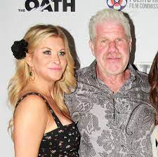 Ron Perlman with his girlfriend Allison