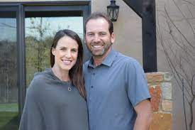Sergio Garcia with his wife Angela