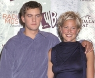 Joshua Jackson with his ex-girlfriend Brittany