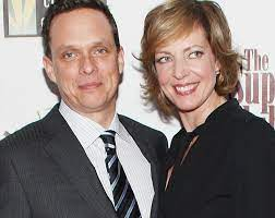 Allison Janney with her brother Hal