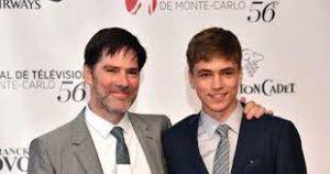 Thomas Gibson with his son James