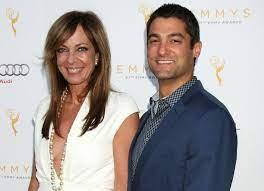 Allison Janney with her boyfriend Philip