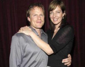 Allison Janney with her ex-boyfriend Richard